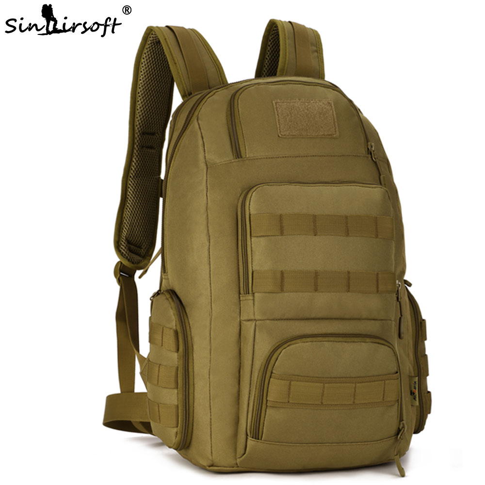 SINAIRSOFT Military Tactical Backpack Army Assault Pack Waterproof Molle Bag Rucksacks Outdoor Hiking Camping Hunting LY2018 9 colors new 50l molle high capacity tactical backpack assault outdoor military rucksacks backpack camping hunting bag