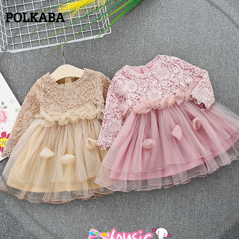 все цены на Pink Lace Girl Tulle Party Dress Toddler Baby Girl Wedding Party Dress Elegant Dress for Girl Kids Dresses for Girls Kids Wear