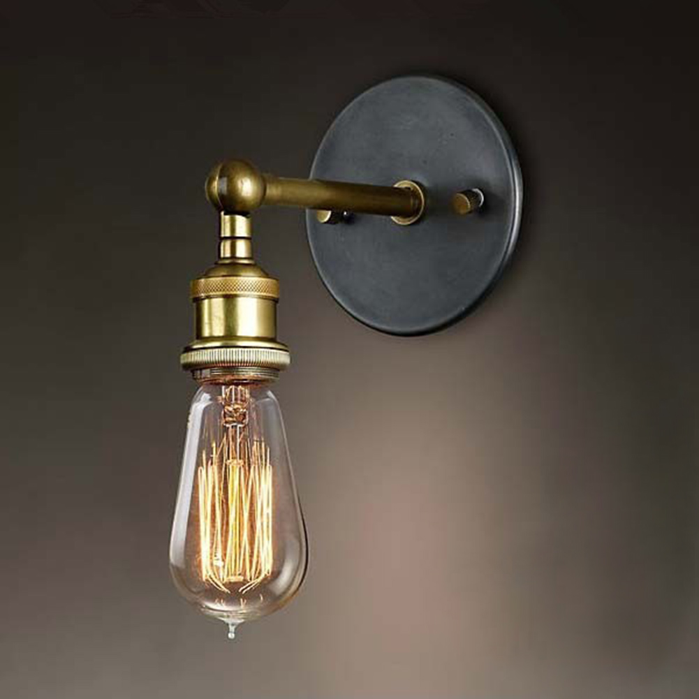 Retro Loft LED Wall Light Vintage Plated Industrial Wall Lamp Lamparas De Pared Stair Bathroom Iron