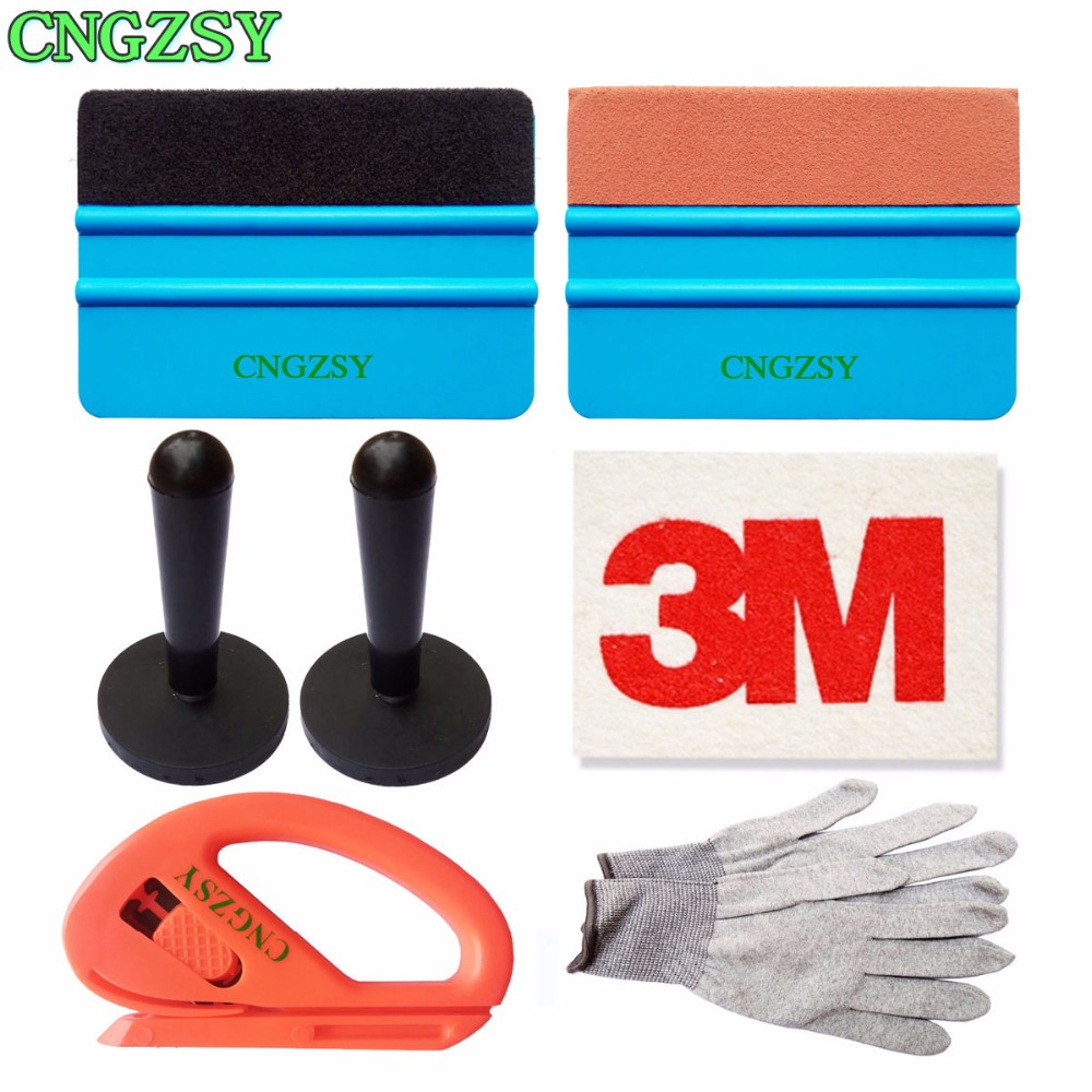 Standard Pro Tool kit Combo Car Vinyl Wrap Bag Suede Felt Wool Squeegee Sticker Magnet Holders Film Cutter Working Gloves K19
