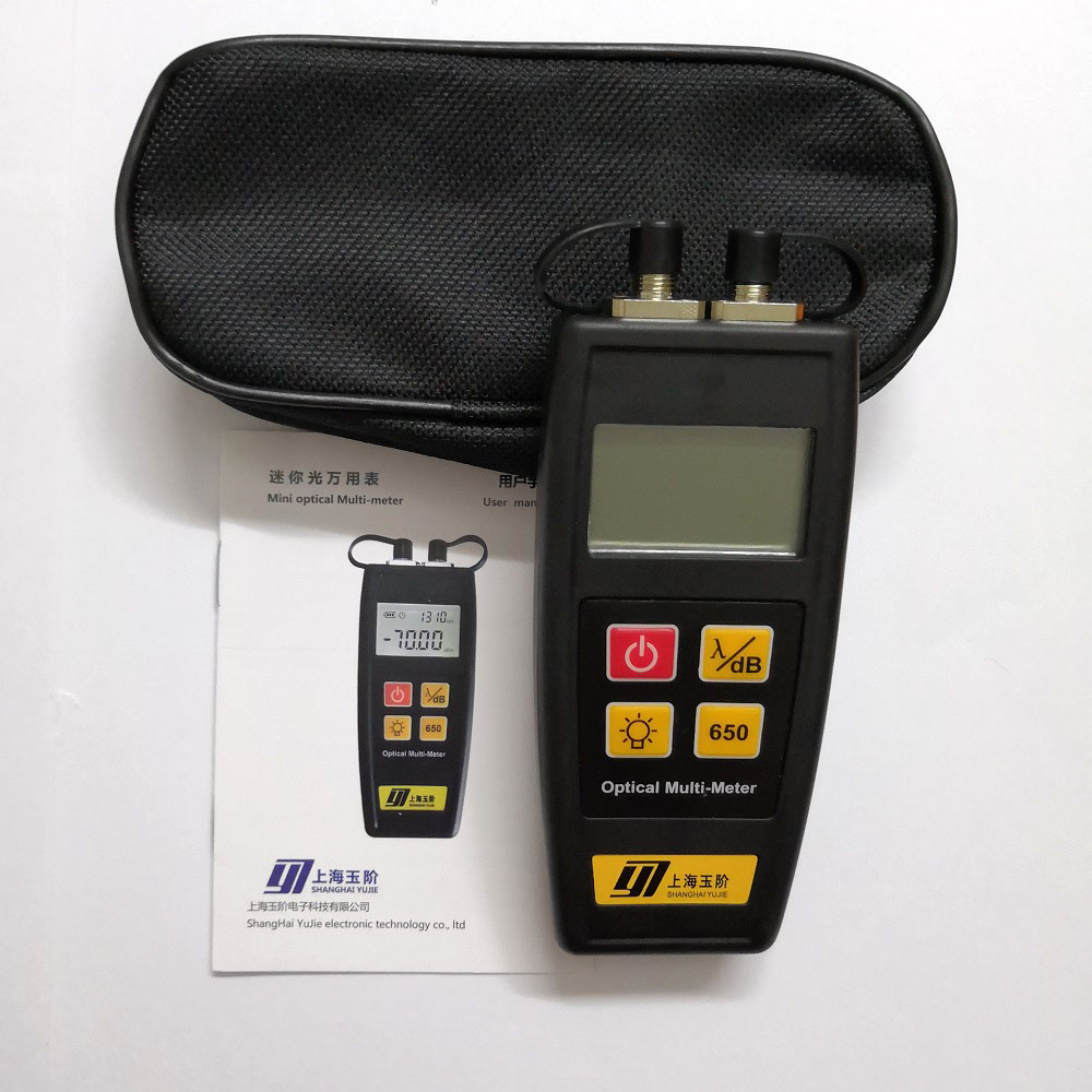 Бесплатная доставка, оптический тестер, встроенный измеритель мощности волокна с визуальным обнаружением неисправностей 50 мВт, 25 км