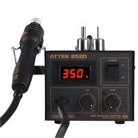 ATTEN AT852D 550 W 220 V Hot Air Rework Station Hot Air Gun Estação De Solda com 2 Bico para BGA IC Desoldering Ferramenta