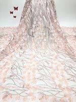 2019 Latest French Lace Fabric High Quality Tulle African Lace Fabri For Wedding Nigerian Multicolor Tulle red Lace Material X02