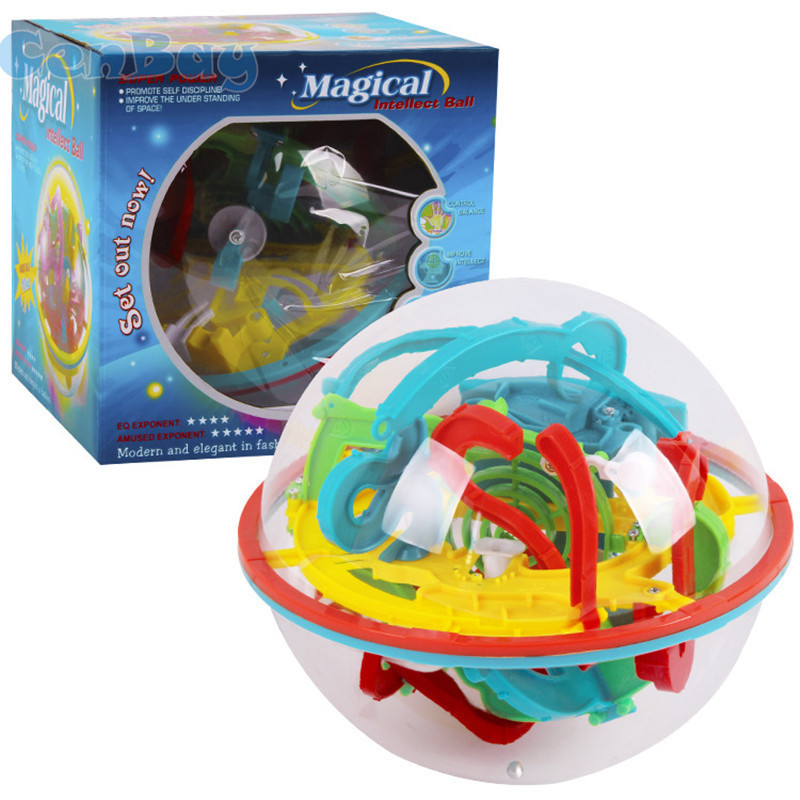 118 Levels 3D Magic Maze Ball Intellect Ball Rolling Ball Puzzle Orbit Game Brain Teaser for Children Learning Educational Toys