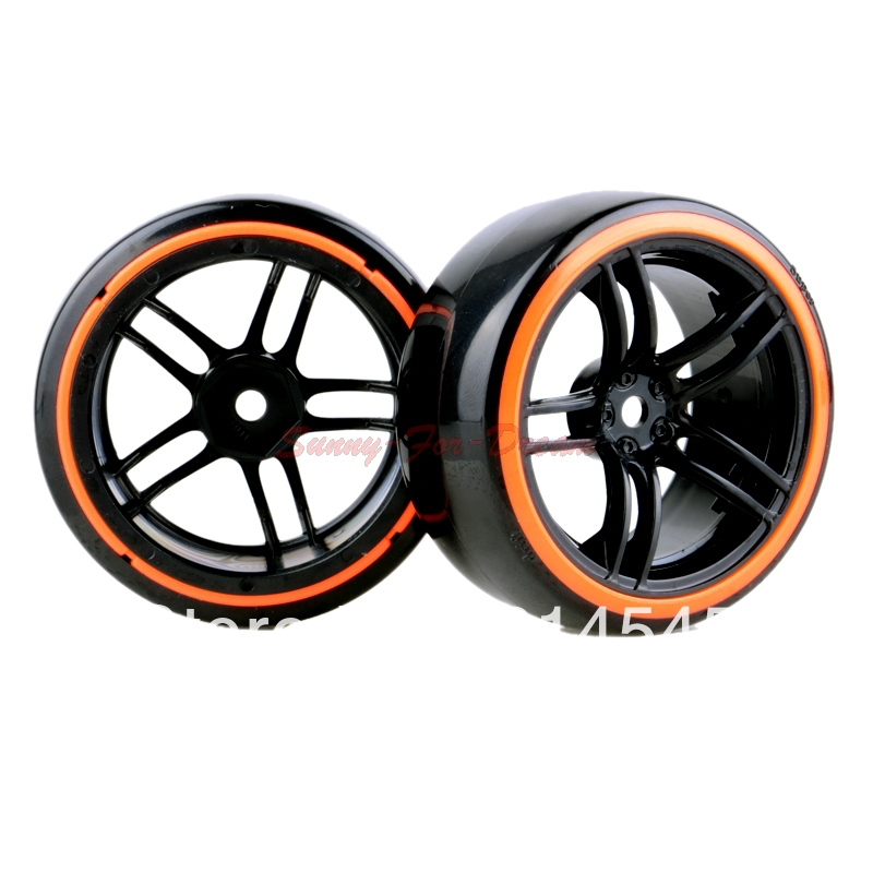 4PCS RC Car 1:10 On-Road Drift Wheel Rims & Tyre Tires Fit HSP HPI 9065-5005