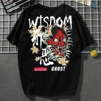 Hip Hop T Shirt 2019 Summer Japanese Streetwear Harajuku Tops Punk Rock T Shirt Casual Hiphop Shirt Samurai Clothes KK2867
