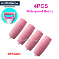 2016 Red foot care tool roller Heads pedicure herramientas hard roller Heads for  size 4pcs Free Shipping