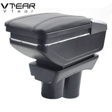 Vtear For Citroen c-elysee/ Peugeot 301 armrest central Store content Storage box with cup holder ashtray accessories 2012-2016