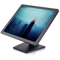 19 Inch 4 Wire Resistive Desktop LCD Touch Monitor POS Touch Monitor 1280 1024 With AV