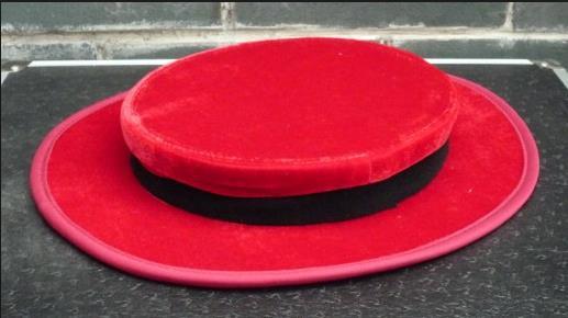 Rouge pliant chapeau haut-de-forme illusions de magie pour les magiciens, tours de magie professionnels, accessoires de magicien, illusions de magie de scène