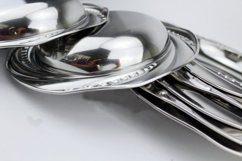 Nėriniai veidrodiniai indai Nerūdijančio plieno indų valgiai - Virtuvė, valgomasis ir baras - Nuotrauka 5