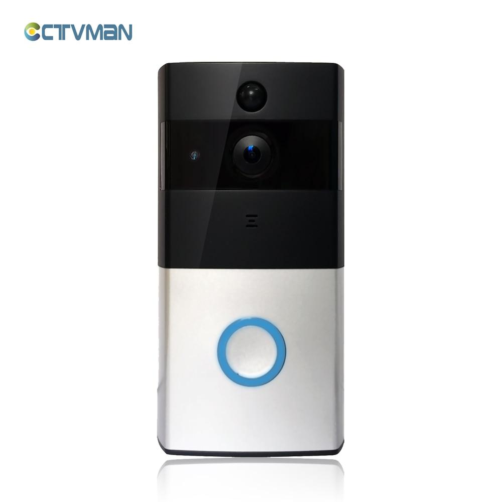 CTVMAN PIR WI-FI Campainha Intercom Telefone Da Porta de Vídeo Sem Fio HD 720 P Bateria Da Câmera IP Slot Para Cartão SD De Áudio De Potência segurança ao ar livre