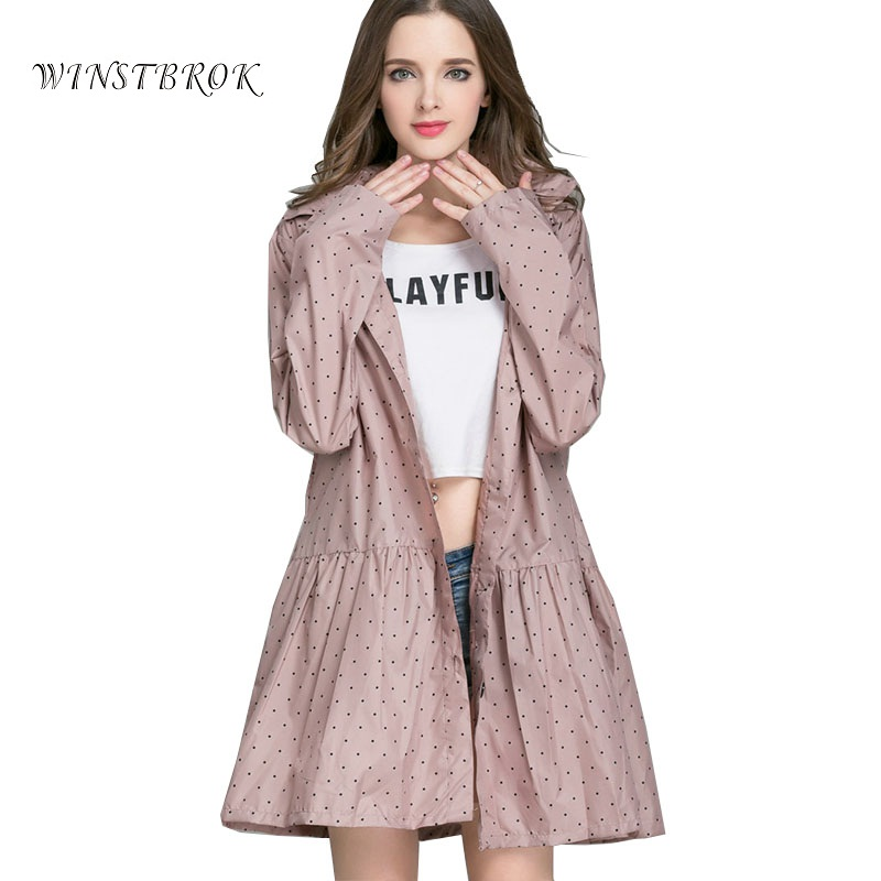 Long Raincoat Women Ladies Rain Coat Kvinners Rainwear Pustende Rain Coat for Women Poncho Water-Repellent Riding Clothes