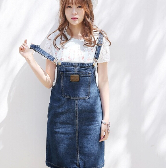 Really Making A Movie Han Mo Female Plus Size Denim Overalls Korean