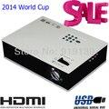 2016 Nuevo USB Proyector LED de La Lámpara 20000 Horas de Vídeo Digital Projetor Proyector Para El Hogar Usado Brasil Copa Del Mundo Footmall Grande pantalla