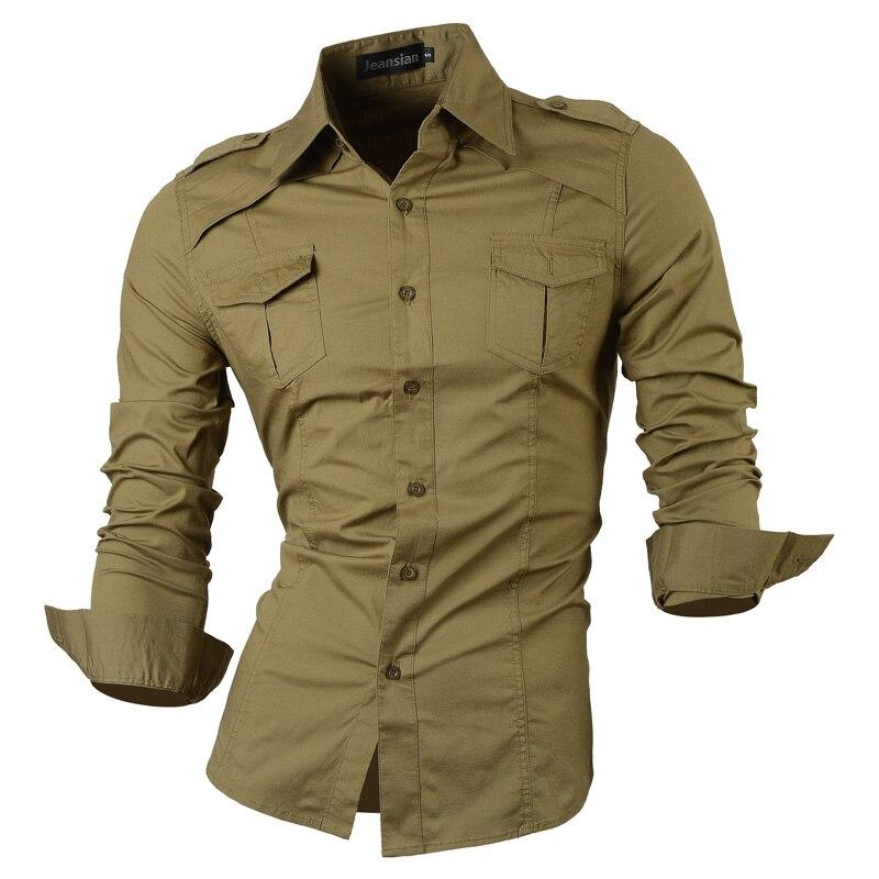 Мужская рубашка 2017 Slim Fit S