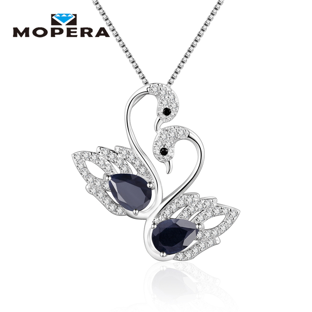 Fine Jewelry Womens White Sapphire Sterling Silver Pendant Necklace