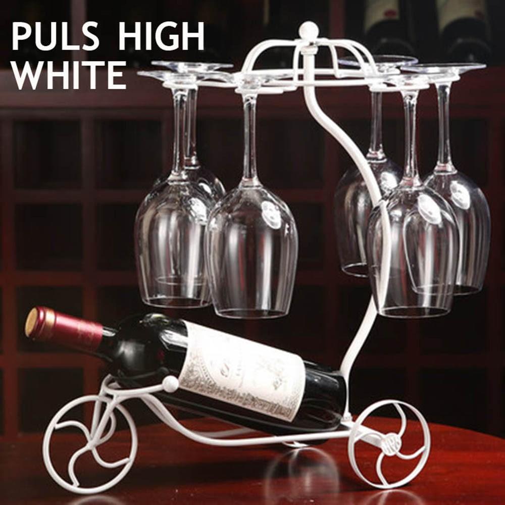 Decorative Racks Wine Bottle Holder Hanging Upside Down Cup Goblets Display Rack Iron Wine Stand Arts Design KC1283 (14)