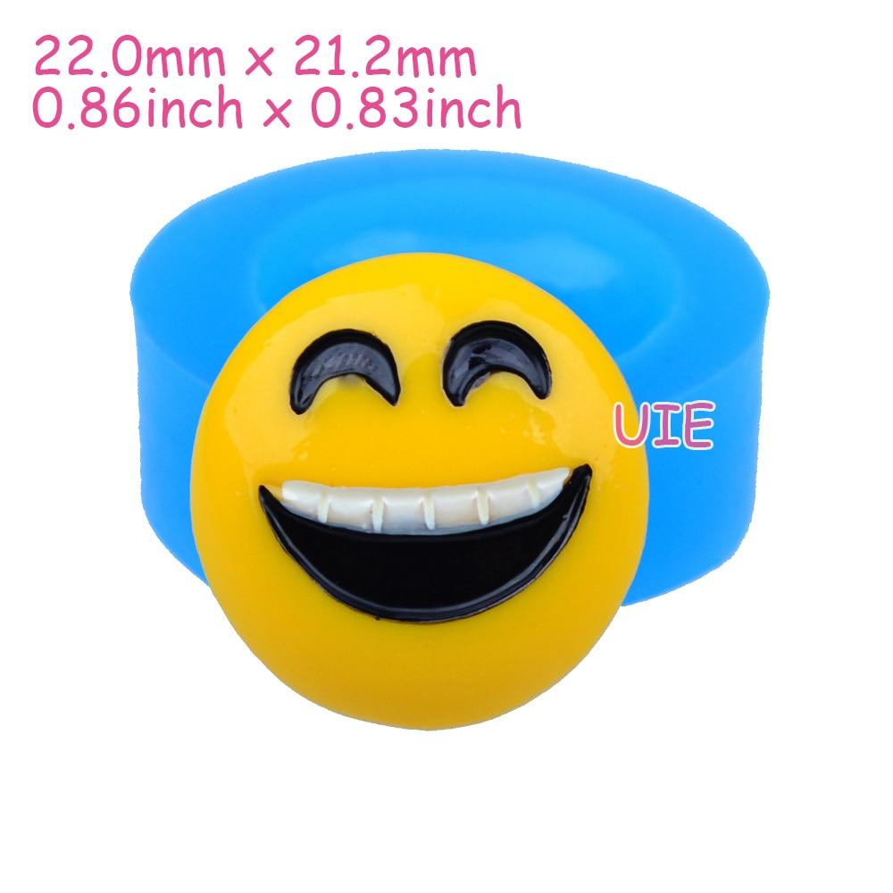 Pyl573u 22mm Smiley Emoji Silikonform Emoticon Flexible Mold Harz
