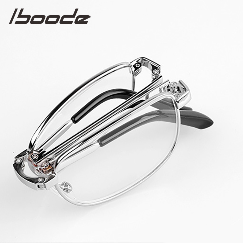 IBOODE Folding Reading <font><b>Glasses</b></font> Lightweight Unisex Hyperopia Eyewear 0.5 0.75 <font><b>1.0</b></font> 1.25 1.5 1.75 2.0 2.5 3.0 3.5 4.0 With Cases image