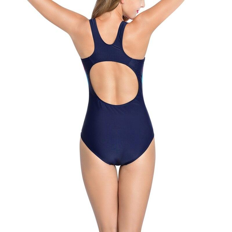 sexy bikini costumi da bagno sport donne di un pezzo posteriore scollata costume da bagno monokini marca slim patchwork costume