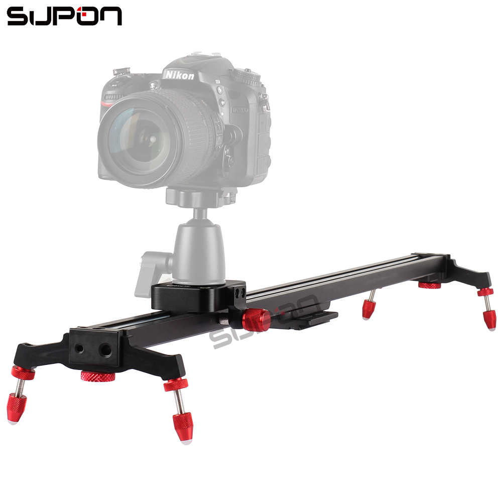 SUPON New 80cm Camera Slider DSLR Track Dolly Magic Tracks Video Stabilization Rail System for Nikon Canon Sony Photography ye 5d2 super mute 3 wheel truck dolly slider skater for dslr camera black