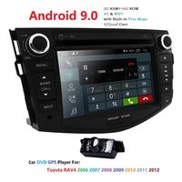 Android 9.0 car dvd player for Toyota RAV4 Rav 4 2007 2008 2009 2010 2011 2 din 1024*600 gps navigation wifi Quad core