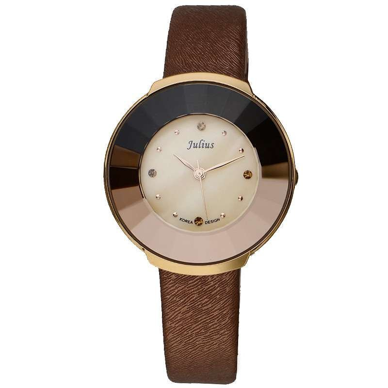 Mother-of-pearl Women's Watch Hidden Crown Japan Quartz Hours Fine Fashion Lady's Clock Leather Girl's Birthday Gift Julius Box polly morgan whit mother of pearl повседневные брюки
