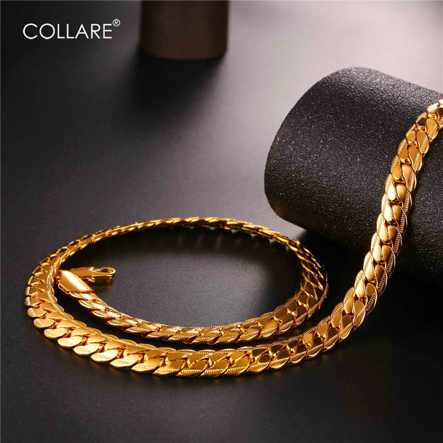 Collare Big Chunky Snake Chain For Men GoldBlackRose GoldSilver