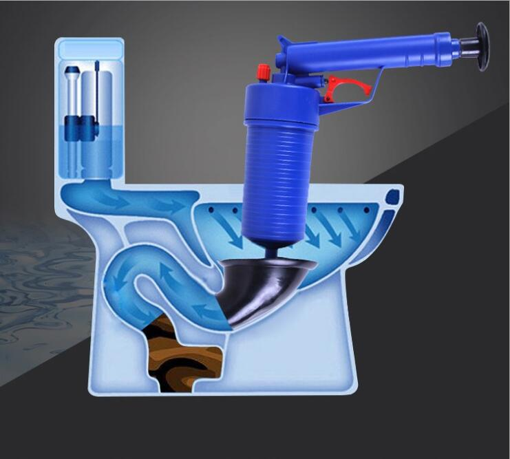 Air Power Drain Blaster Gun And High Pressure Sink Plunger And Cleaner Pump For Bathroom