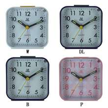 Stylish Small Bed Alarm Clock Transparent Case Compact Travel Clock Mini Mute Children Student Desk Watch(China)