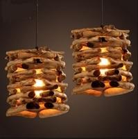 Modern Pendant Lights Wood Stick Loft Lamp Hanging Lighting Led Loft Luminaire Kitchen Dining Bedroom Pendant Lamp Home Lighting