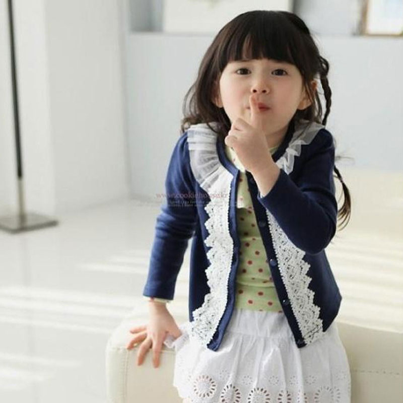Children Coat Baby Girls Thin Spring Coats long sleeve coat girl 39 s Baby jacket Autumn Outerwear Lace in Jackets amp Coats from Mother amp Kids