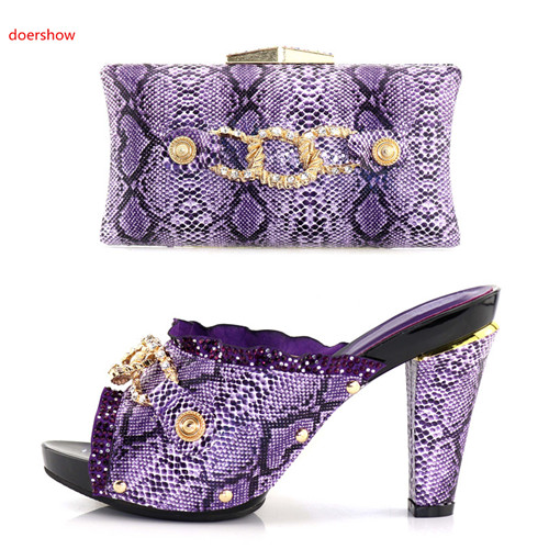 doershow New Design Italian Shoes With Matching Bag Set Fashion Italy Shoes And Bag To Match African Women Shoes For Parti BB-23 cd158 1 free shipping hot sale fashion design shoes and matching bag with glitter item in black