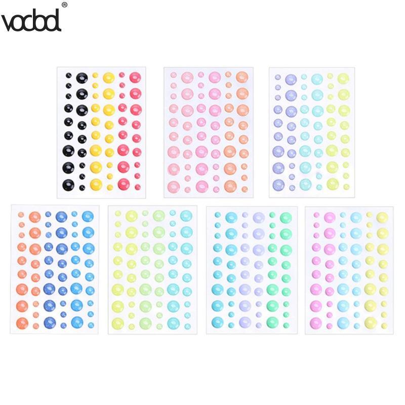 Us 0 6 21 Off Vodool Enamel Dot Sticker Resin Sticker For Diy Paper Crafts Scrapbooking Cards Making Photo Album Decor School Office Supplies In