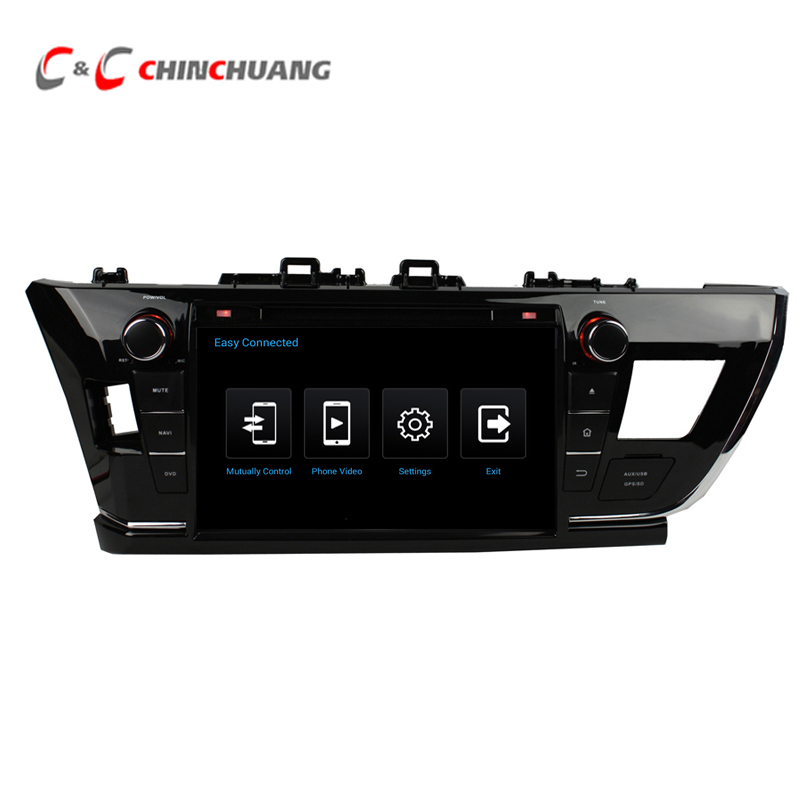 1024*600 Quad Core Android 5.1.1 Car DVD Radio GPS for Toyota Corolla 2014 2015 Left or Right Driving with Wifi SWC Mirror link
