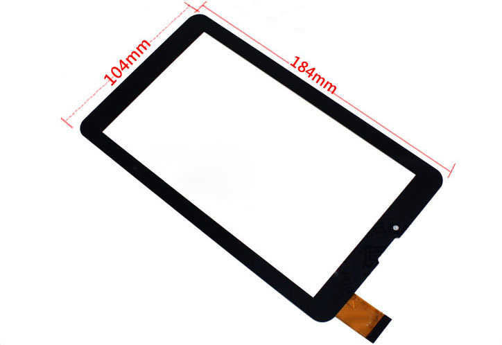"""Black Nuovo 7 """"Tablet Per BRAVIS NP 725 3G Touch screen digitizer pannello di sostituzione del Sensore di vetro Spedizione Gratuita"""