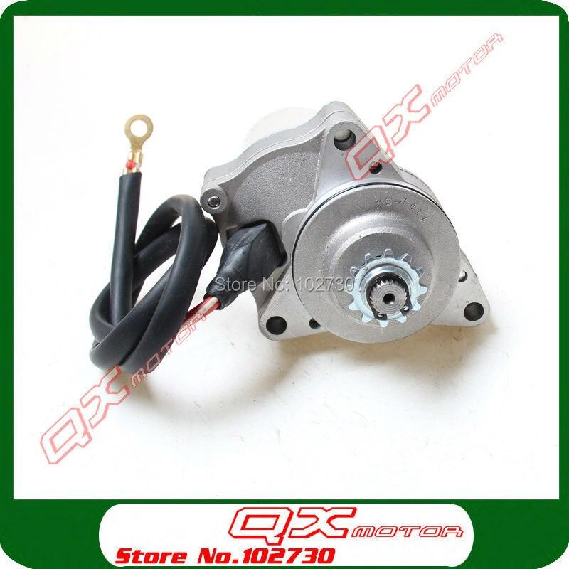 3 Bolt Upper Electric Starter Motor For 50cc 70cc 90cc 110cc 125cc 4-Stroke Start Engine ATV Quad Go kart Buggy