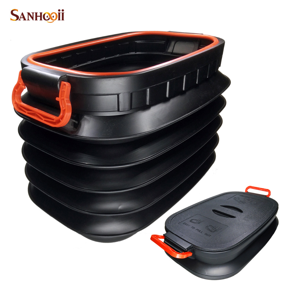 37L Car Styling Folding Tidying Bucket Storage box Collapsible Rear Auto Trunk Organizer Outdoor Camping Fishing