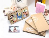 Vintage Kraft Paper Loose Leaf Holds 60 Pieces 3 Inch Photos Pictures Instax Mini Polaroid Photo
