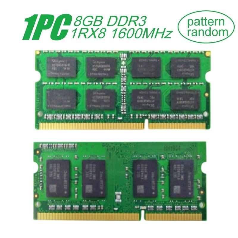 Bilgisayar ve Ofis'ten RAM'de Samsung SODIMM 8GB DDR3 1RX8 PC3L 12800S 1600MHz 1.35V Notebook RAM 204Pin dizüstü bilgisayar RAM bellek