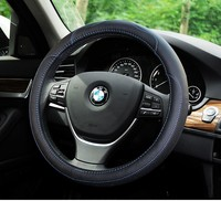38cm four seasons genuine leather steering wheel Cover for bmw series 3 e46 e90 series 5 comforting accessories