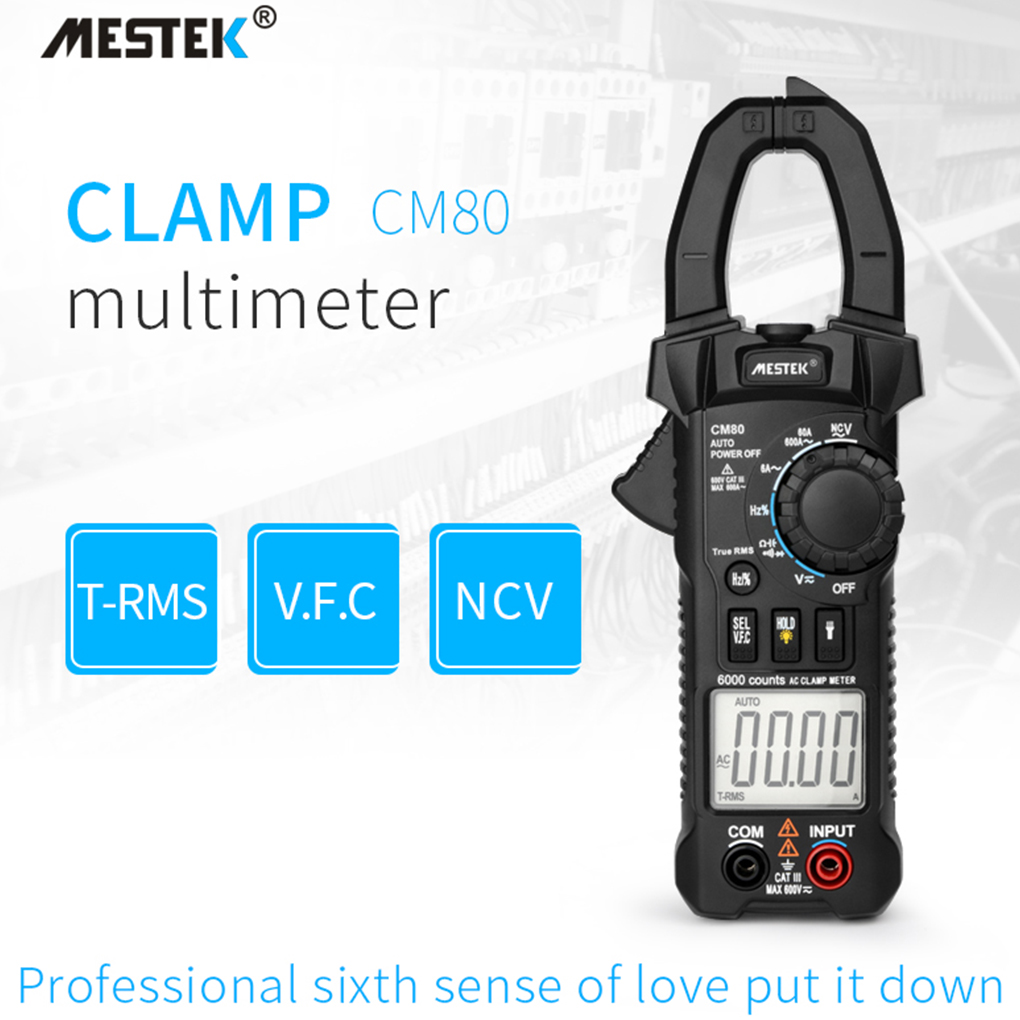 MESTEK True RMS Digital Clamp Meter AC/DC Voltage AC Current ...