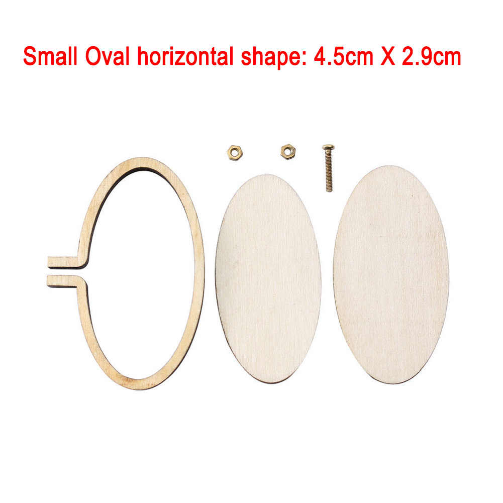 New Arrivials Mini Wooden Cross Stitch Hoop Ring Embroidery Circle Sewing Kit Frame Craft