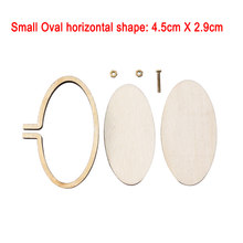 New Arrivials Mini Wooden Cross Stitch Hoop Ring Embroidery Circle Sewing Kit Frame Craft(China)