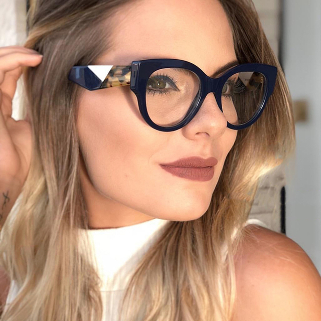 41d8b7fa73a6 ANEDF 2018 New Cat Eye Round Glasses Frames Women Retro Styles Designer  Optical Fashion Computer Glasses Eyewear Frames