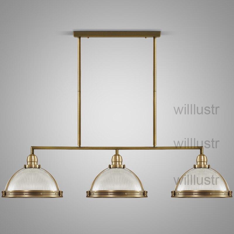 Willlustr vintage clemson prismatique verre pendentif lumière suspension lampe en métal éclairage suspendus lumières salle à manger restaurant