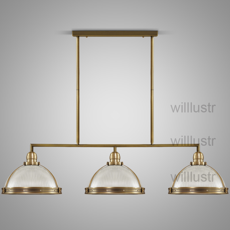 willlustr vintage clemson prismatic glass pendant light suspension lamp metal lighting hanging lights dinning room restaurant цена