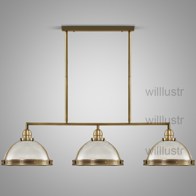 Willlustr vintage clemson prismatic glass pendant light suspension willlustr vintage clemson prismatic glass pendant light suspension lamp metal lighting hanging lights dinning room restaurant aloadofball Images