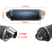 escapamento de moto akrapovic yoshimura exhaust carbon big triangle back pressure silencieux moto for benelli bn600